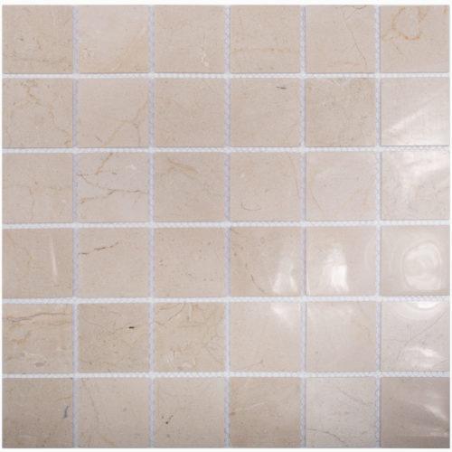 "Каменная мозаика Starmosaic ""Wild Stone"" CREMA MARFIL POLISHED (сетка 30.5Х30.5Х0.4 см)"