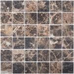 "Каменная мозаика Starmosaic ""Wild Stone"" DARK EMPERADOR MATT 48x48 (сетка 30.5Х30.5Х0.8 см)"