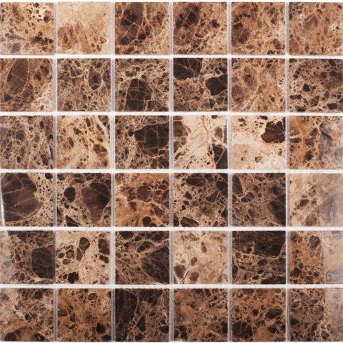 "Каменная мозаика Starmosaic ""Wild Stone"" DARK EMPERADOR POLISHED (сетка 30.5Х30.5Х0.4 см)"