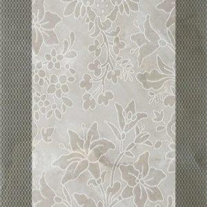 Плитка настенная (декор) Serra «Incanto 572» wall floral decor grey glossy (90Х30Х1.2 см)