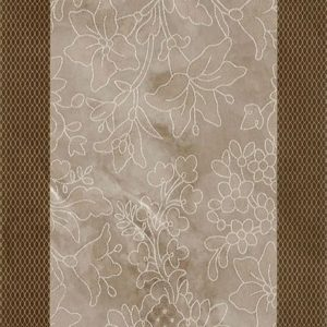 Плитка настенная (декор) Serra «Incanto 572» wall floral decor brown glossy (90Х30Х1.2 см)