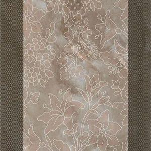 Плитка настенная (декор) Serra «Incanto 572» wall floral decor anthracide glossy (90Х30Х1.2 см)