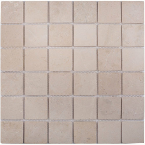 "Каменная мозаика Starmosaic ""Wild Stone"" CREMA MARFIL MATT (сетка 30.5Х30.5Х0.8 см)"