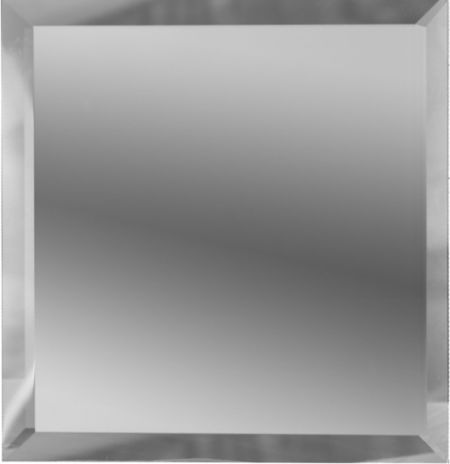 Квадратная зеркальная серебряная плитка с фацетом 10 мм ДСТ «КЗС1-10» (10Х10 см)