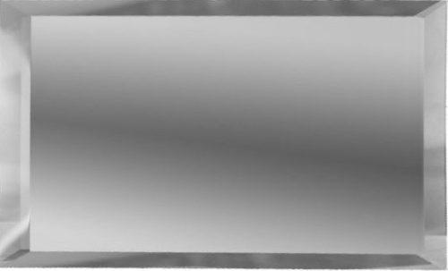 Прямоугольная зеркальная серебряная плитка с фацетом 10 мм ДСТ «ПЗС1-75» (15Х7.5 см)