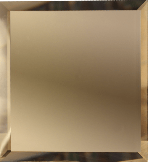 Квадратная зеркальная бронзовая плитка с фацетом 10 мм ДСТ «КЗБ1-10» (10Х10 см)