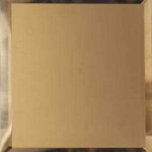 Квадратная зеркальная бронзовая матовая плитка с фацетом 10 мм ДСТ «КЗБм1-10» (10Х10 см)