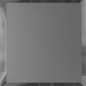 Квадратная зеркальная графитовая матовая плитка с фацетом 10 мм ДСТ «КЗГм1-10» (10Х10 см)