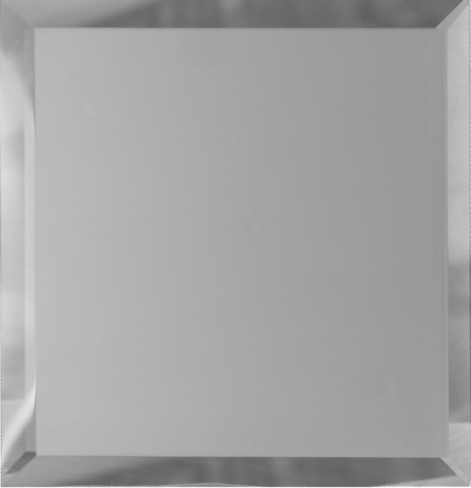 Квадратная зеркальная серебряная матовая плитка с фацетом 10 мм ДСТ «КЗСм1-03» (25Х25 см)