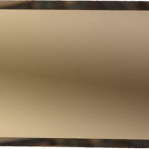 Прямоугольная зеркальная бронзовая плитка с фацетом 10 мм ДСТ «ПЗБ1-75» (15Х7.5 см)