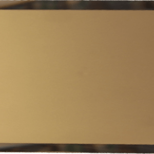 Прямоугольная зеркальная бронзовая матовая плитка с фацетом 10 мм ДСТ «ПЗБм1-01» (24Х12 см)