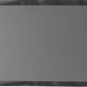 Прямоугольная зеркальная графитовая матовая плитка с фацетом 10 мм ДСТ «ПЗГм1-01» (24Х12 см)