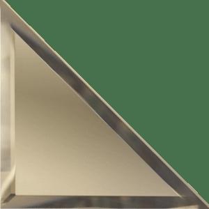Треугольная зеркальная бронзовая плитка с фацетом 10 мм ДСТ «ТЗБ1-12» (12Х12 см)