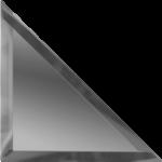 Треугольная зеркальная графитовая плитка с фацетом 10 мм ДСТ «ТЗГ1-12» (12Х12 см)