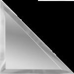 Треугольная зеркальная серебряная плитка с фацетом 10 мм ДСТ «ТЗС1-12» (12Х12 см)