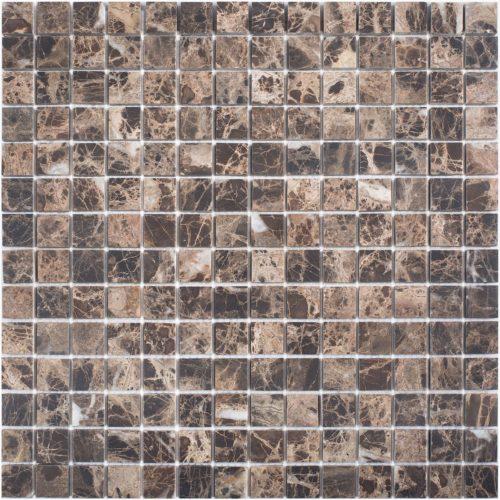 "Каменная мозаика Starmosaic ""Wild Stone"" DARK EMPERADOR MATT 20x20 (сетка 30.5Х30.5Х0.8 см)"