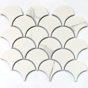 Керамическая мозаика Bonaparte Calacatta-scale (сетка 25.5Х21.9X0.6 см)