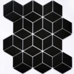 Керамическая мозаика Bonaparte Landa Black matt (сетка 26.7X30.9Х0.6 см)