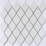 Керамическая мозаика Bonaparte Melany White glossy (сетка 26.4X28Х0.6 см)