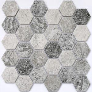 Керамическая мозаика Bonaparte Olmeto Grey (сетка 28.2X27.1Х0.6 см)