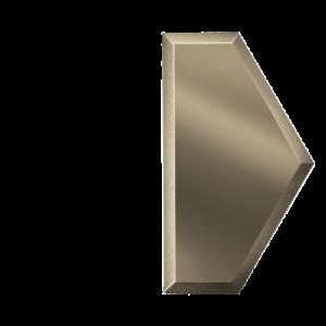 Зеркальная бронзовая плитка с фацетом 10 мм ДСТ «СОЗБ1у» ПОЛУСОТА (10Х17.3 см)