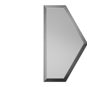 Зеркальная серебряная матовая плитка с фацетом 10 мм ДСТ «СОЗСм1у» ПОЛУСОТА (10Х17.3 см)