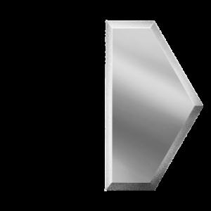 Зеркальная серебряная плитка с фацетом 10 мм ДСТ «СОЗС1у» ПОЛУСОТА (10Х17.3 см)