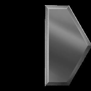 Зеркальная графитовая плитка с фацетом 10 мм ДСТ «СОЗГ1у» ПОЛУСОТА (10Х17.3 см)