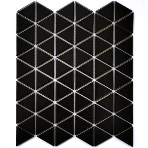 Керамическая мозаика Bonaparte Reno Black matt (сетка 25.2X29.1Х0.6 см)