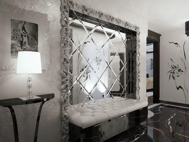 Серебряная зеркальная плитка