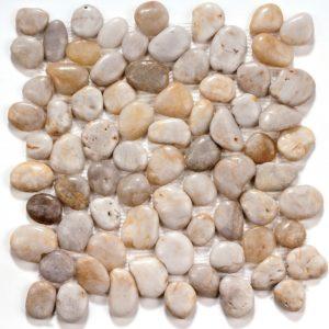 Мозаика из натурального камня Bonaparte White jack (сетка 30.5Х30.5Х1.3 см)