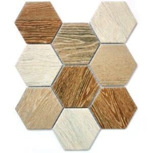 Керамическая мозаика Bonaparte Wood comb (сетка 29.5X25.6Х0.6 см)