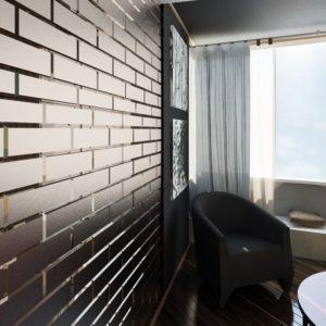 Матовая графитовая зеркальная плитка