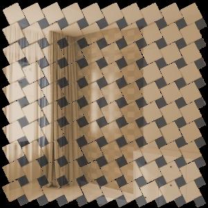 Зеркальная мозаика ДСТ «Б70Г30» графит (30%) + бронза (70%) (30Х30 см) (чип 2.5Х2.5 см) (чип 1.2Х1.2 см)