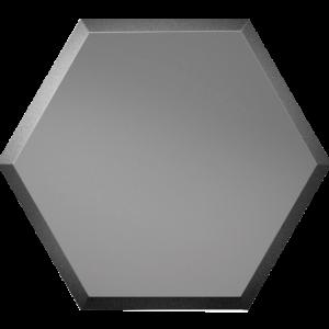 Зеркальная графитовая матовая плитка с фацетом 10 мм ДСТ «СОЗГм1» СОТА (20Х17.3 см)