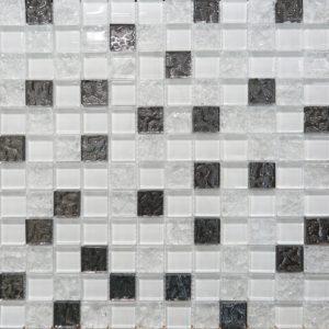 Плитка настенная (мозаика) AltaСera «Bella» Mosaic Glass White DW7MGW00 (30Х30Х0.9 см)