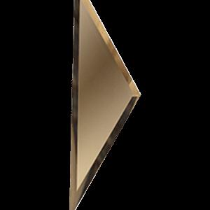Зеркальная бронзовая плитка с фацетом 10 мм ДСТ «РЗБ1-01б» ПОЛУРОМБ (10Х34 см)