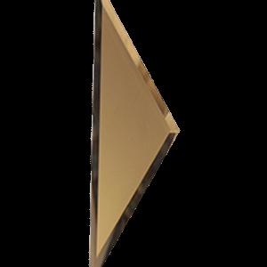 Зеркальная бронзовая матовая плитка с фацетом 10 мм ДСТ «РЗБм1-01б» ПОЛУРОМБ (10Х34 см)