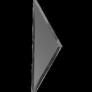 Зеркальная графитовая матовая плитка с фацетом 10 мм ДСТ «РЗГм1-01б» ПОЛУРОМБ (10Х34 см)