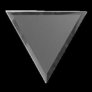 Зеркальная графитовая матовая плитка с фацетом 10 мм ДСТ «РЗГм1-01вн» ПОЛУРОМБ (20Х17 см)