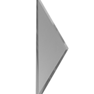 Зеркальная серебряная матовая плитка с фацетом 10 мм ДСТ «РЗСм1-01б» ПОЛУРОМБ (10Х34 см)
