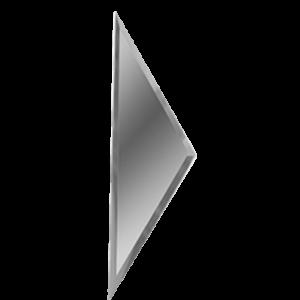 Зеркальная серебряная плитка с фацетом 10 мм ДСТ «РЗС1-01б» ПОЛУРОМБ (10Х34 см)