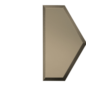 Зеркальная бронзовая матовая плитка с фацетом 10 мм ДСТ «СОЗБм1у» ПОЛУСОТА (10Х17.3 см)
