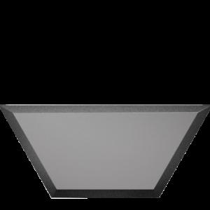Зеркальная графитовая матовая плитка с фацетом 10 мм ДСТ «СОЗГм1п» ПОЛУСОТА (20Х8.6 см)