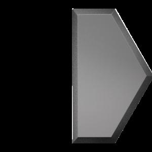 Зеркальная графитовая матовая плитка с фацетом 10 мм ДСТ «СОЗГм1у» ПОЛУСОТА (10Х17.3 см)