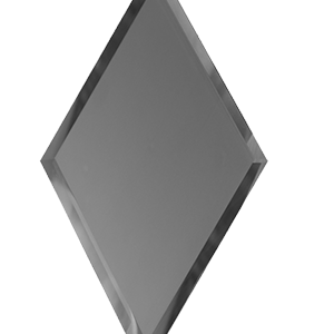 Зеркальная графитовая матовая плитка с фацетом 10 мм ДСТ «РЗГм1-01» РОМБ (20Х34 см)