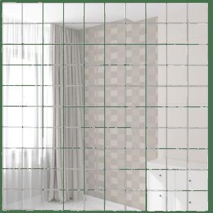 Зеркальная мозаика ДСТ «С25» серебро (30Х30 см) (чип 2.5Х2.5 см)