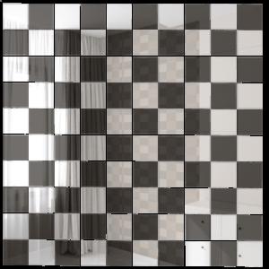 Зеркальная мозаика ДСТ «Б50Г50» бронза (50%) + графит (50%) (30Х30 см) (чип 2.5Х2.5 см)