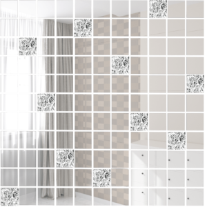 Зеркальная мозаика ДСТ «Б90Г10» бронза (90%) + графит (10%) (30Х30 см) (чип 2.5Х2.5 см)