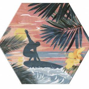 Плитка настенная KERAMA MARAZZI «Бенидорм» розовый 24022 (23.1Х20Х0.6 см)
